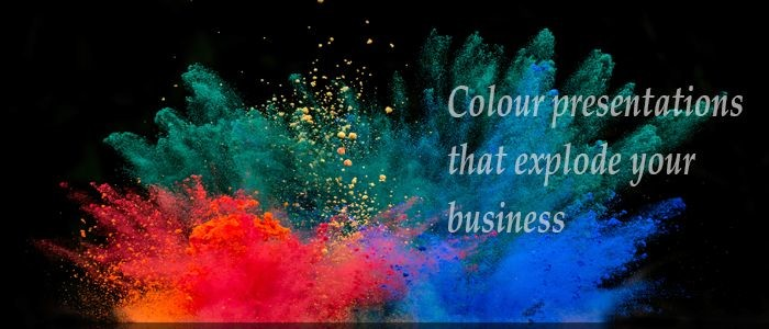 Exploding colour presentations